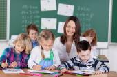 Female teacher in kindergarten — Stock Photo