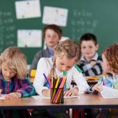 Young children in kindergarten class — Stock Photo