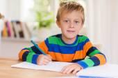Small boy in primary school — Stock Photo