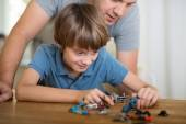 Technically minded boy playing at home — Stock Photo
