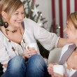 Two girlfriends on christmas — Stock Photo #58666411