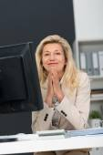 Businesswoman with Blond Hair — Stock Photo