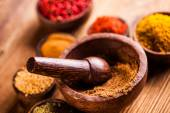 Asian seasoning, oriental theme with spices — Stock Photo