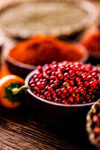 Taste of Indonesia, oriental theme with spices — Stock Photo