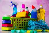 Wasch- und Reinigungsanlagen, Reinigungsset — Stockfoto