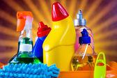 Washing concept on light background — Stock Photo