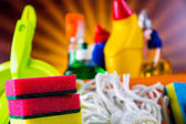 Saturated concept of cleaning — Stock Photo