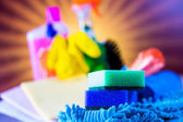 Colorful cleaning theme — Stock Photo