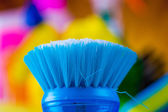 Cleaning objects on saturated background — Stock Photo