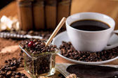 Natural traditional coffee, home ambient theme — Foto Stock
