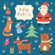 Merry Christmas vector set — Stock Vector #53579607