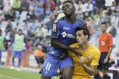 Match Getafe vs Malaga League BBVA say 6 — Foto de Stock