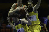 Baloncesto Seville vs. EWE Baskets Oldenburg Eurocup Basketball  — 图库照片