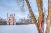 Alexander Nevsky Cathedral Peterhof Russia winter — Stock Photo
