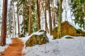 Mon repos Park Vyborg Russia — Stock Photo