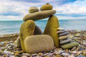 Stone house by the sea — Zdjęcie stockowe