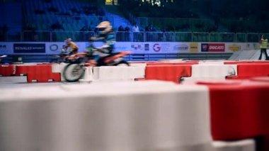 Gara motociclistica di stadio — Video Stock