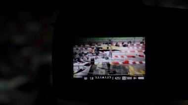 Building Motorcycle Track — Vídeo de Stock