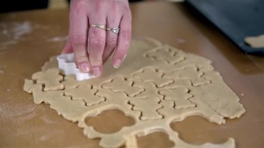 Woman Stamping  cookies — Stock Video