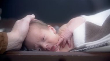 Mother Caressing Baby — Stock Video