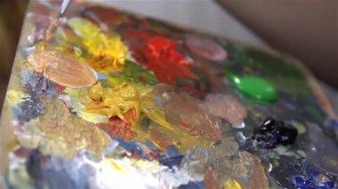 女人领料颜色 — 图库视频影像