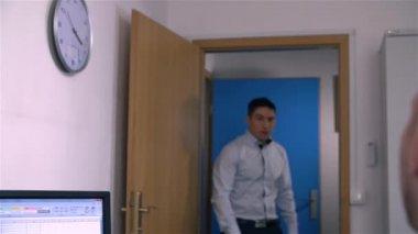 Co-Worker Brings More Work — Stock Video