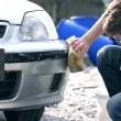 Man Cleaning Car — Stock Video #63903021