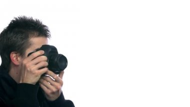 Man Photographing Everything — Wideo stockowe