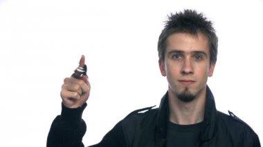 Young Man Rolling Car Keys — Vídeo de Stock