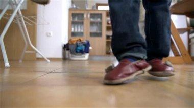 Kid's Legs Dancing — Stock Video