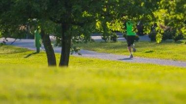 Man Running In Park — Stock Video