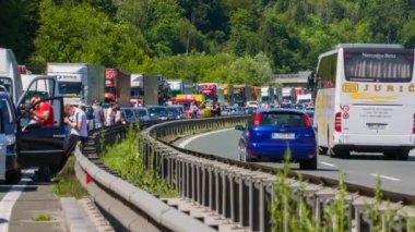 Summer Highway Traffic Jam — Stock Video