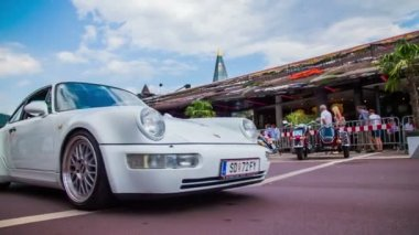 White Porche passing by — Stock Video