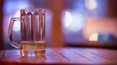Almost empty glass of wine — Vídeo de stock