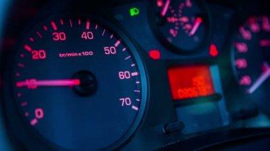 Car rev counter — Stock Video
