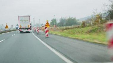 Emergency lane on highway — Stock Video