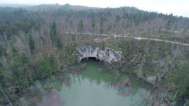 Natural stoned bridge — Stock Video