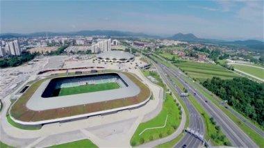 Sport complex in Slovenia — Stock Video