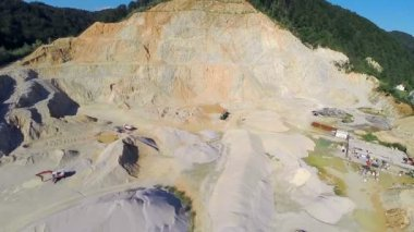 Flying over  sand mining — Stock Video