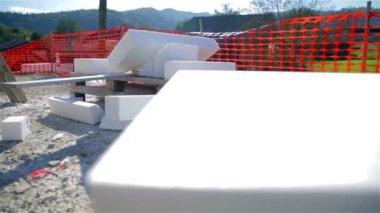 Styrofoam pieces all around — Stok video