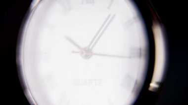 Ticking classic pocket clock — Stock Video