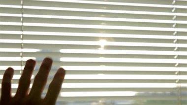 Sun shining through roller — Stock Video