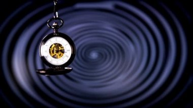 Antique pocket clock — Stock Video