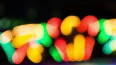 Shining lights in adventureland park — Stock Video
