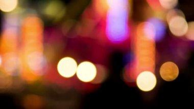 Shiny lights in adventureland. — Stock Video