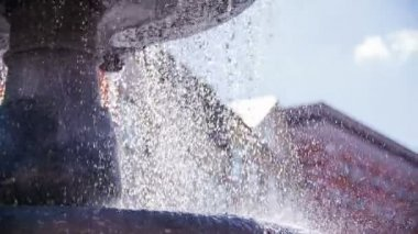 Falling water from upper layers — Stock Video