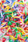 Colorful decorative gift ribbons as background — Stock Photo