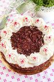Homemade Black Forest cake — Stock Photo