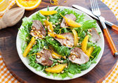 Duck breast and orange salad — Stock Photo