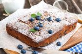 Homemade blueberry cake — Stok fotoğraf